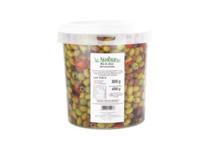 Mix of Pitted Italian Olives in Oil - Mix di Olive Denocciolate - Bucket 8,3 l - MIXDS04