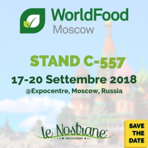 Le Nostrane - WorldFood Mosca (Russia) - 17-20 Settembre 2018