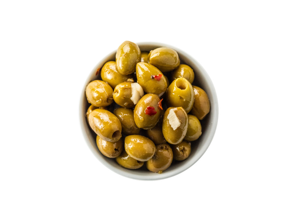 Calabrian Style Pitted Green Olives